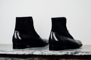 Mauban Handcrafted in France Black Black Balmoral Boots