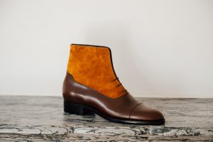 Mauban Handcrafted-in-France Brown Camel Balmoral Boots