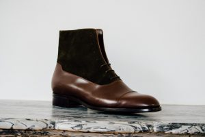 Mauban Handcrafted-in-France Brown Olive Balmoral Boots