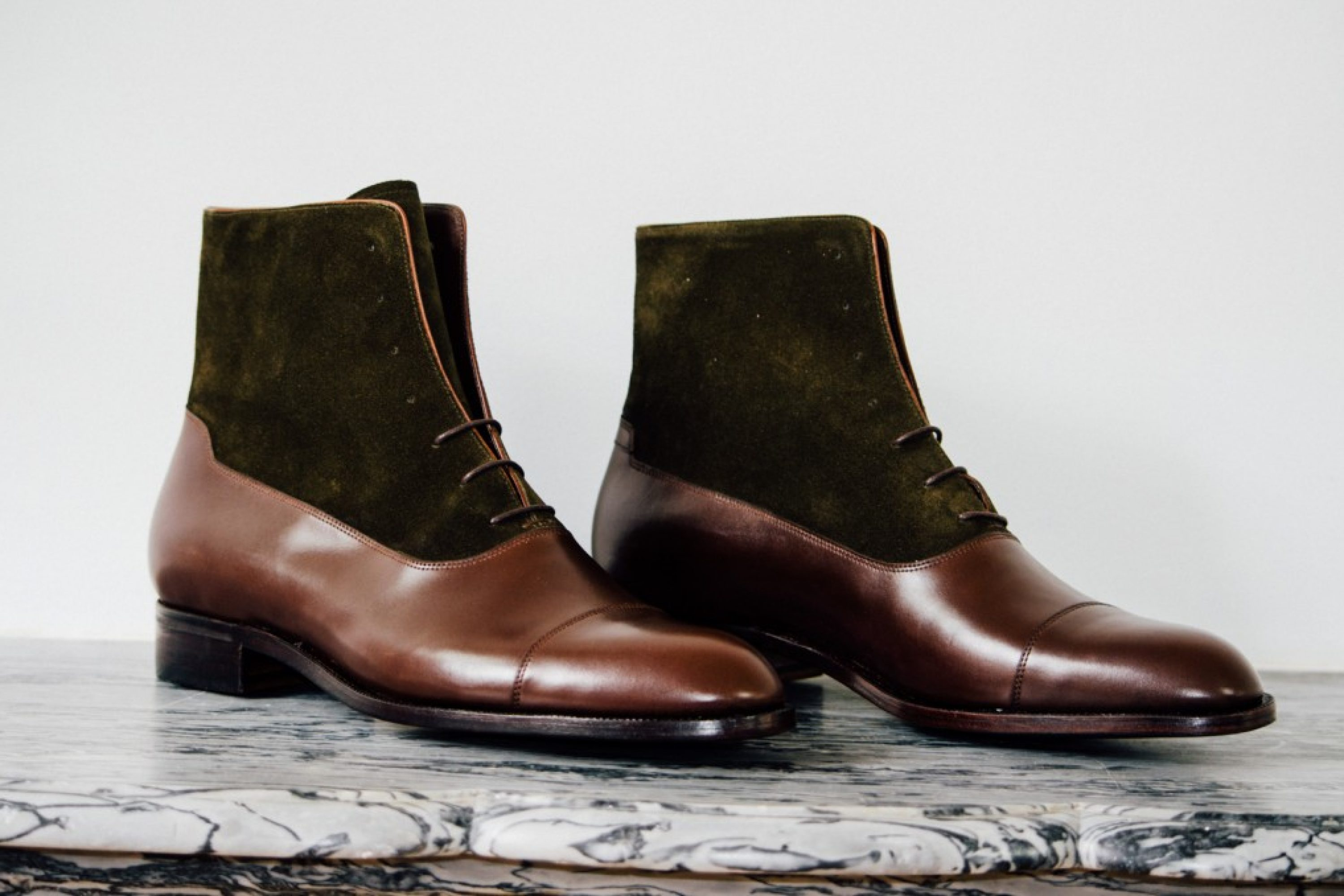 Mauban Handcrafted Brown Olive Balmoral Boots