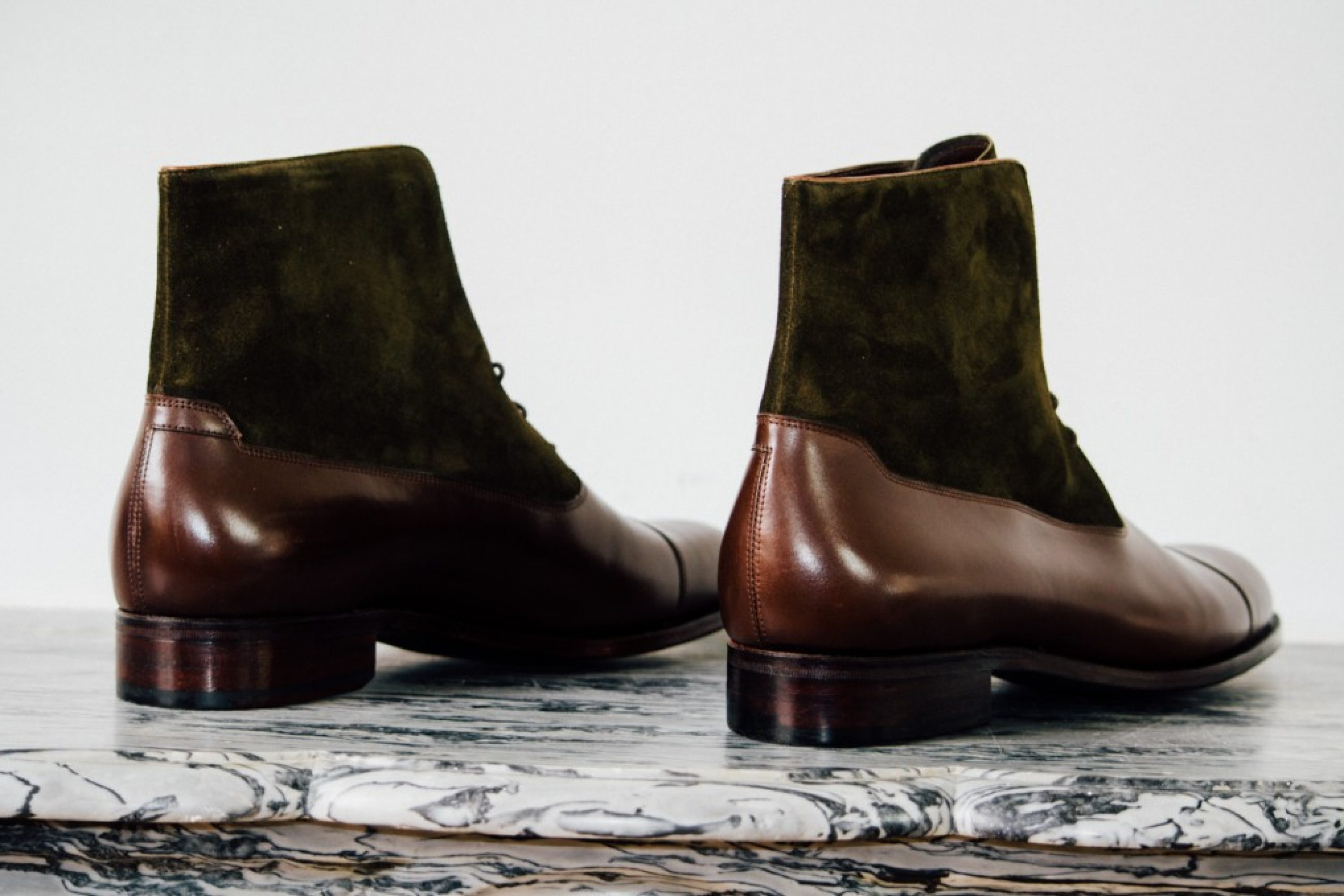 Mauban Balmoral Brown Olive Handcrafted Boots