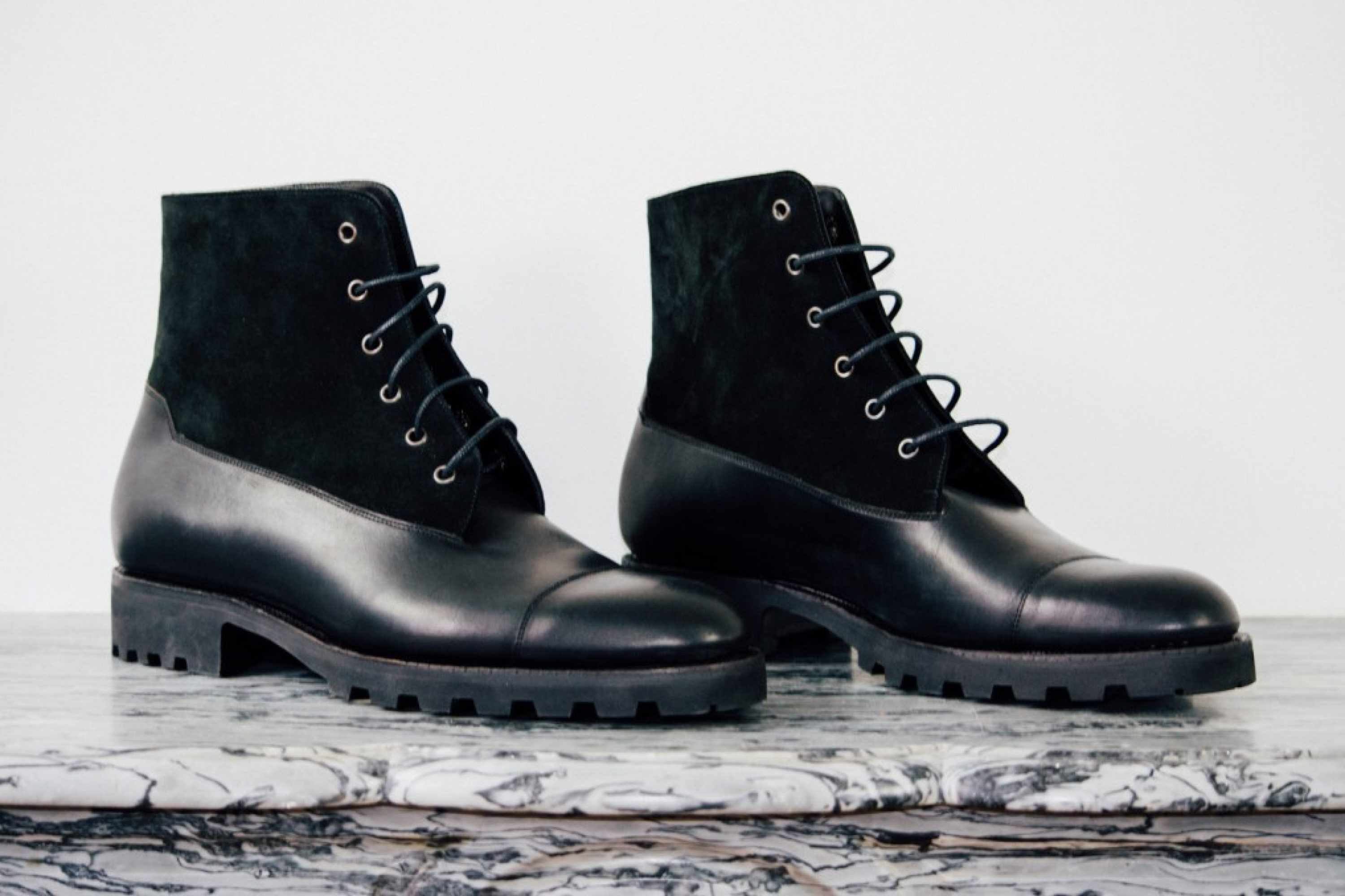 Mauban Handcrafted Black and Black Blitz Boot