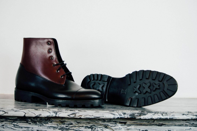 Mauban Black Burgundy Blitz Derby Commando Goodyear Boots