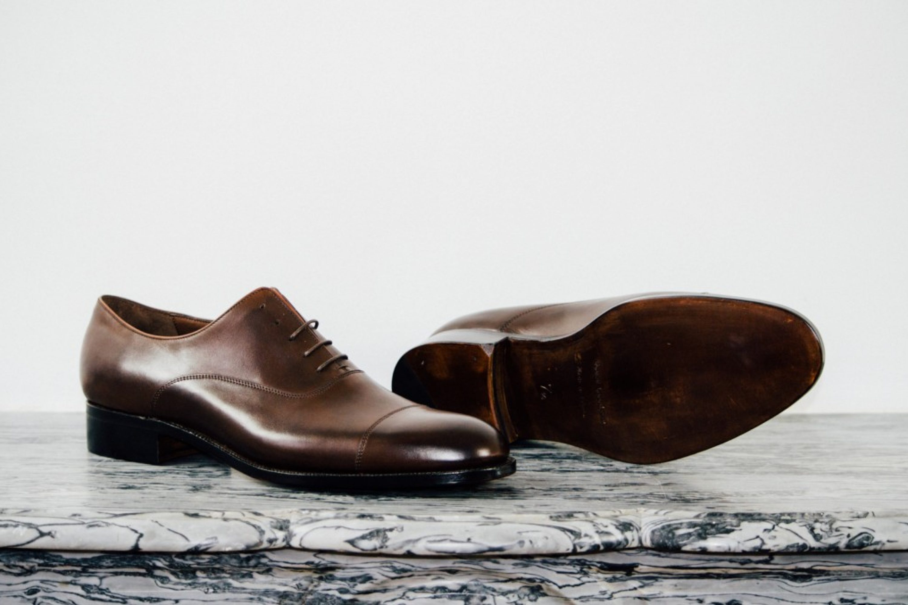 Mauban Handcrafted Brown Oxford Shoes