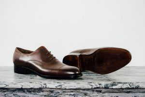 Mauban Handcrafted in France Brown Oxford Shoes