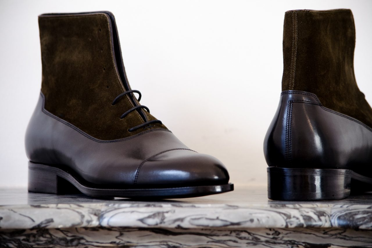 Mauban Handcrafted in France Sur-mesure Savoir-faire kaki balmoral bottines Boots