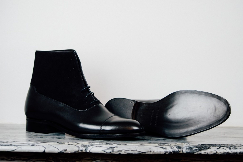 Mauban Handcrafted Black Black Balmoral Boots