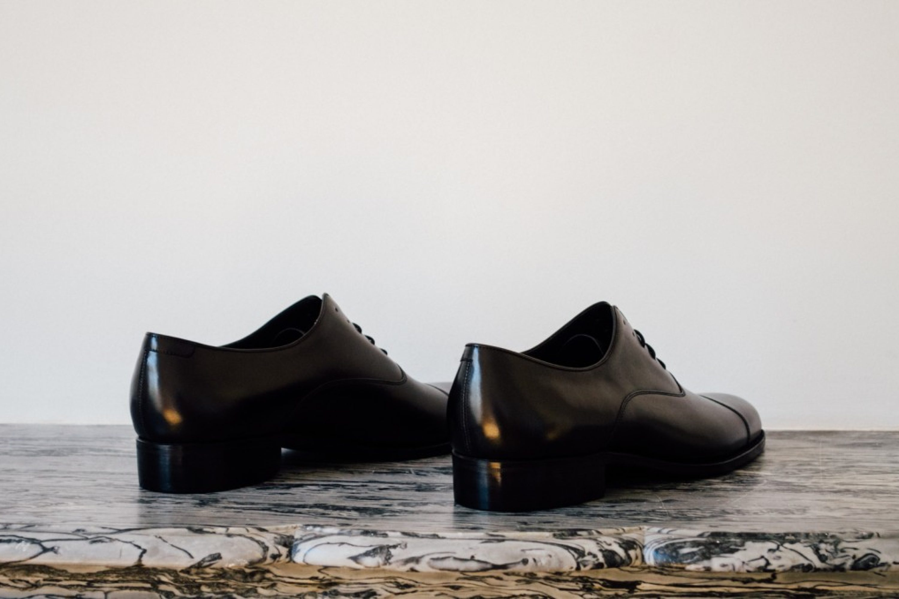 Mauban Handcrafted Black Oxford Shoes