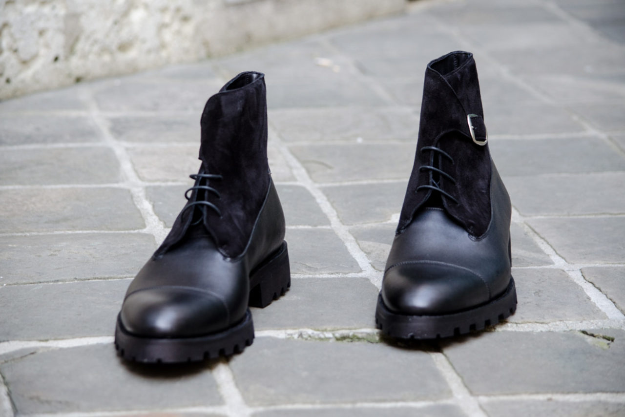 Mauban Handcrafted in France savoir-faire sur-mesure closed channel bottines noires